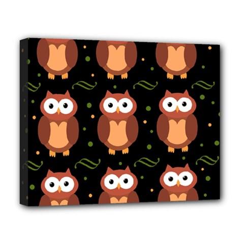 Halloween brown owls  Deluxe Canvas 20  x 16