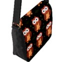 Halloween brown owls  Flap Messenger Bag (L)  View2