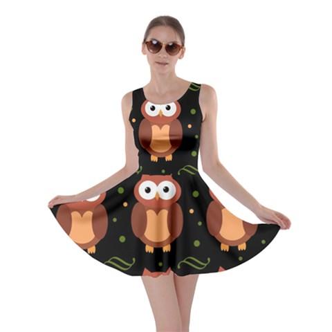 Halloween brown owls  Skater Dress