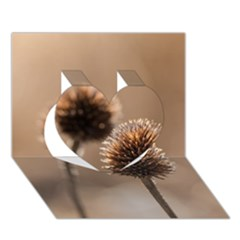 Withered Globe Thistle In Autumn Macro Heart 3d Greeting Card (7x5)