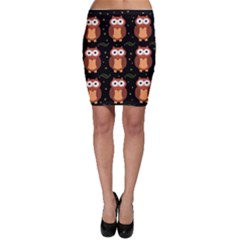 Halloween brown owls  Bodycon Skirt