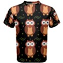 Halloween brown owls  Men s Cotton Tee View1