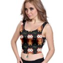 Halloween brown owls  Crop Top View1