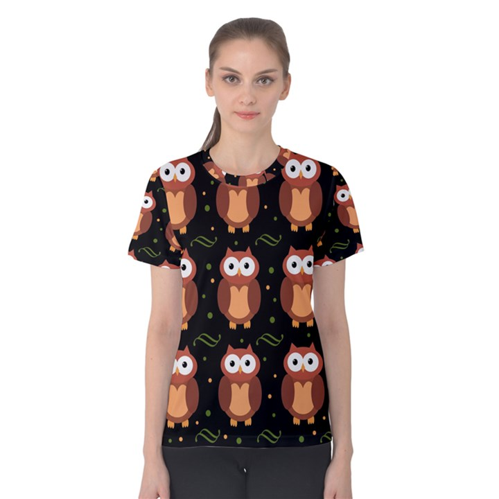Halloween brown owls  Women s Cotton Tee