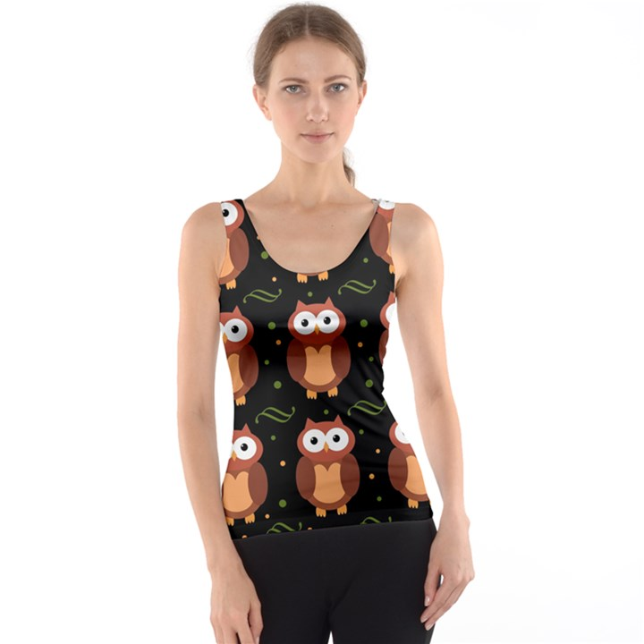 Halloween brown owls  Tank Top