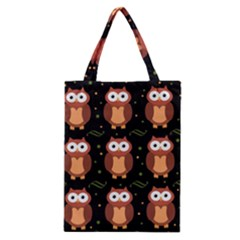 Halloween brown owls  Classic Tote Bag