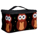 Halloween brown owls  Cosmetic Storage Case View2