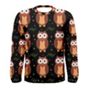 Halloween brown owls  Men s Long Sleeve Tee View1