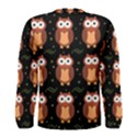 Halloween brown owls  Men s Long Sleeve Tee View2