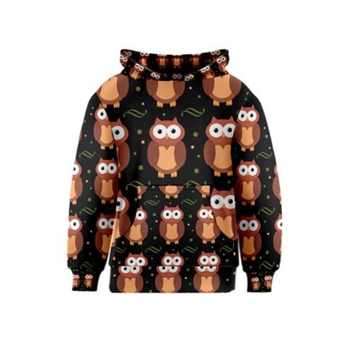 Halloween brown owls  Kids  Pullover Hoodie