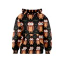 Halloween brown owls  Kids  Pullover Hoodie View1