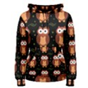 Halloween brown owls  Women s Pullover Hoodie View1