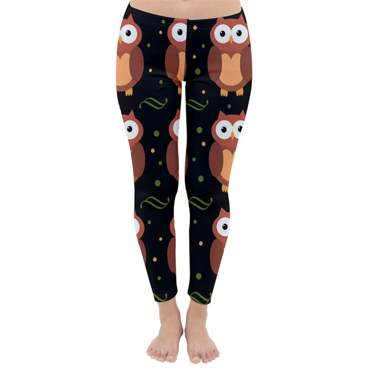 Halloween brown owls  Winter Leggings