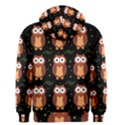 Halloween brown owls  Men s Zipper Hoodie View2