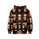 Halloween brown owls  Kids  Zipper Hoodie View1