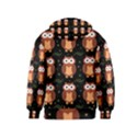 Halloween brown owls  Kids  Zipper Hoodie View2