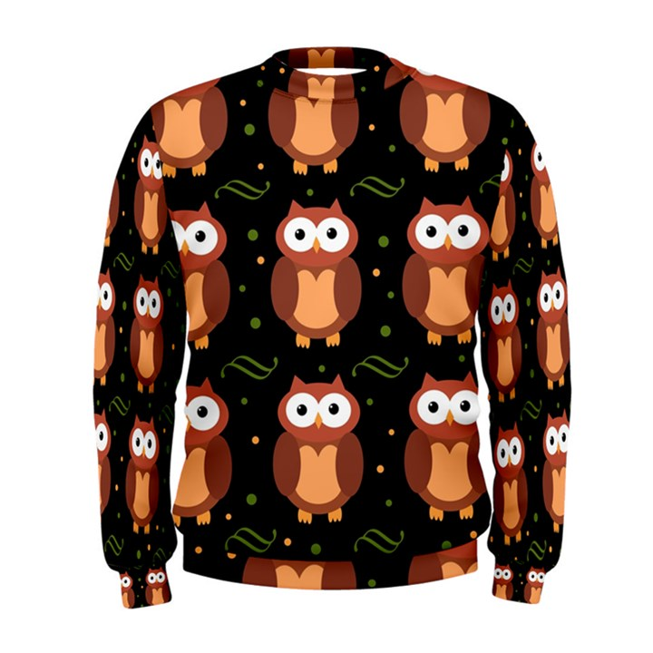 Halloween brown owls  Men s Sweatshirt