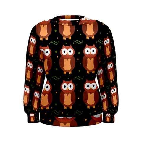 Halloween brown owls  Women s Sweatshirt