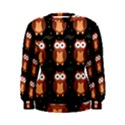 Halloween brown owls  Women s Sweatshirt View1