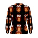 Halloween brown owls  Women s Sweatshirt View2