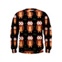 Halloween brown owls  Kids  Sweatshirt View1