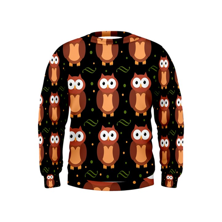 Halloween brown owls  Kids  Sweatshirt