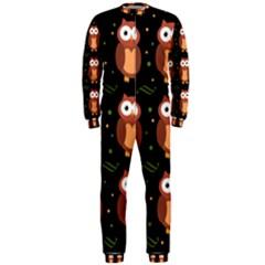 Halloween brown owls  OnePiece Jumpsuit (Men)