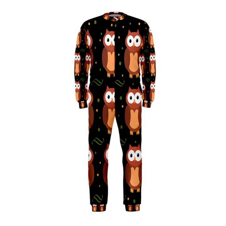 Halloween brown owls  OnePiece Jumpsuit (Kids)