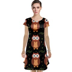Halloween brown owls  Cap Sleeve Nightdress