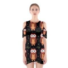 Halloween brown owls  Cutout Shoulder Dress