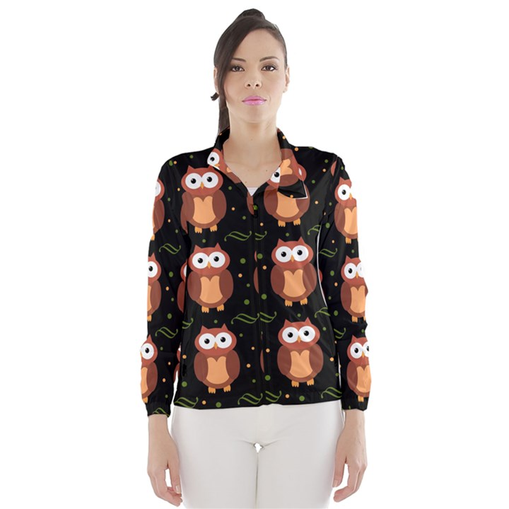 Halloween brown owls  Wind Breaker (Women)
