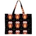 Halloween brown owls  Large Tote Bag View1