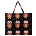 Halloween brown owls  Zipper Large Tote Bag View1