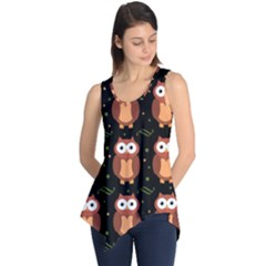 Halloween brown owls  Sleeveless Tunic