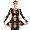 Halloween brown owls  Long Sleeve Tunic  View1