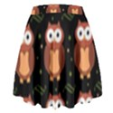 Halloween brown owls  High Waist Skirt View2