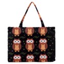 Halloween brown owls  Medium Zipper Tote Bag View1