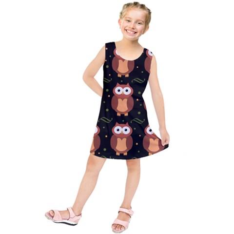 Halloween brown owls  Kids  Tunic Dress