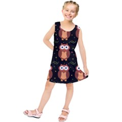 Halloween brown owls  Kids  Tunic Dress