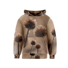 Withered Globe Thistle In Autumn Macro Kids  Pullover Hoodie
