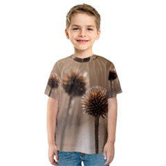 Withered Globe Thistle In Autumn Macro Kids  Sport Mesh Tee