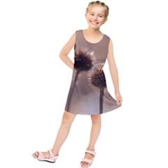 Withered Globe Thistle In Autumn Macro Kids  Tunic Dress