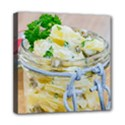 Potato salad in a jar on wooden Mini Canvas 8  x 8  View1