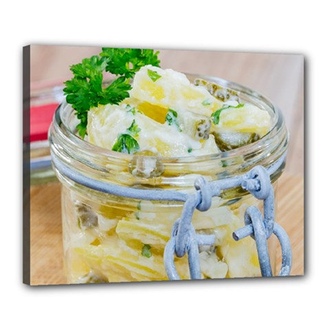 Potato Salad In A Jar On Wooden Canvas 20  X 16