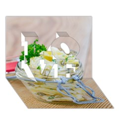 Potato Salad In A Jar On Wooden Love 3d Greeting Card (7x5)
