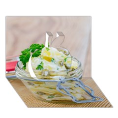 Potato Salad In A Jar On Wooden Apple 3d Greeting Card (7x5)