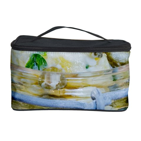 Potato salad in a jar on wooden Cosmetic Storage Case