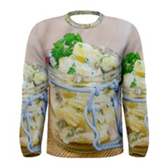 Potato Salad In A Jar On Wooden Men s Long Sleeve Tee