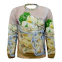 Potato salad in a jar on wooden Men s Long Sleeve Tee View1