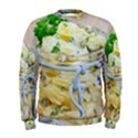 Potato salad in a jar on wooden Men s Sweatshirt View1